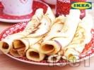 Рецепта Коледни палачинки с канела и конфитюр от червени боровинки